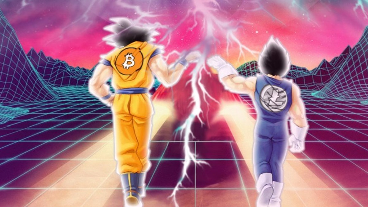 Charles Lee graphically denotes the relationship between Bitcoin and Litecoin on his Twitter profile using an image of Vegeta from Dragon Ball Z wearing the Litecoin insignia and Goku who wears Bitcoin's insignia.
